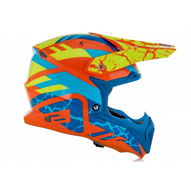 Acerbis Helm IMPACT 3.0 orange-fluo-blau
