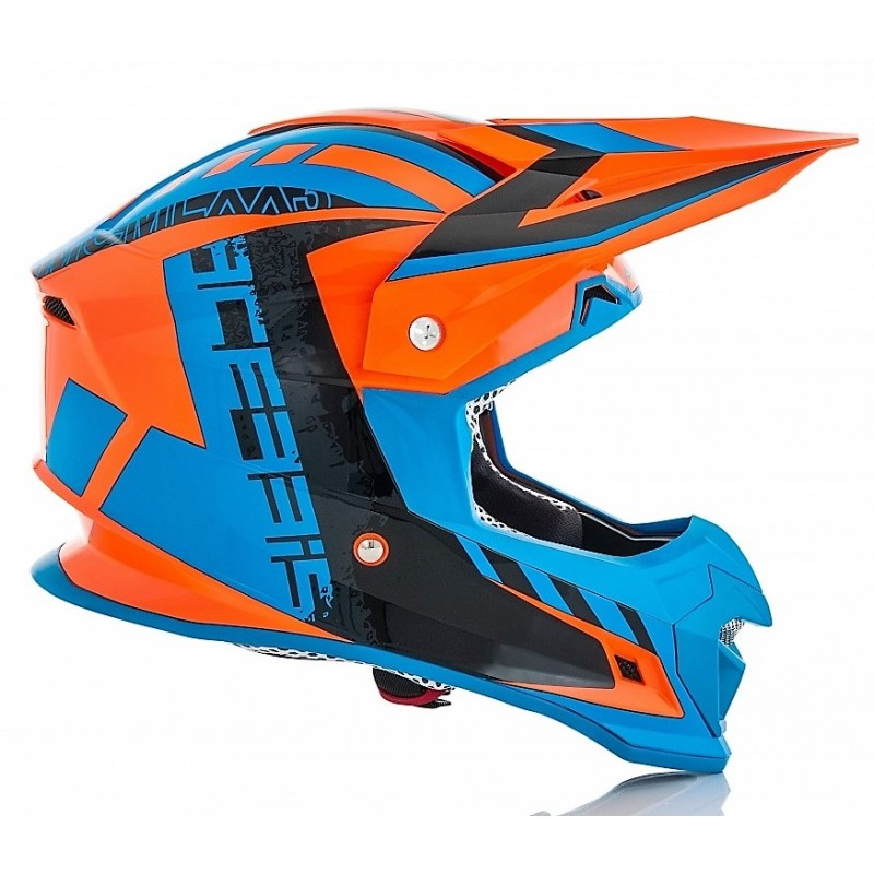 Acerbis Helm PROFILE 4.0 orange-fluo-blau
