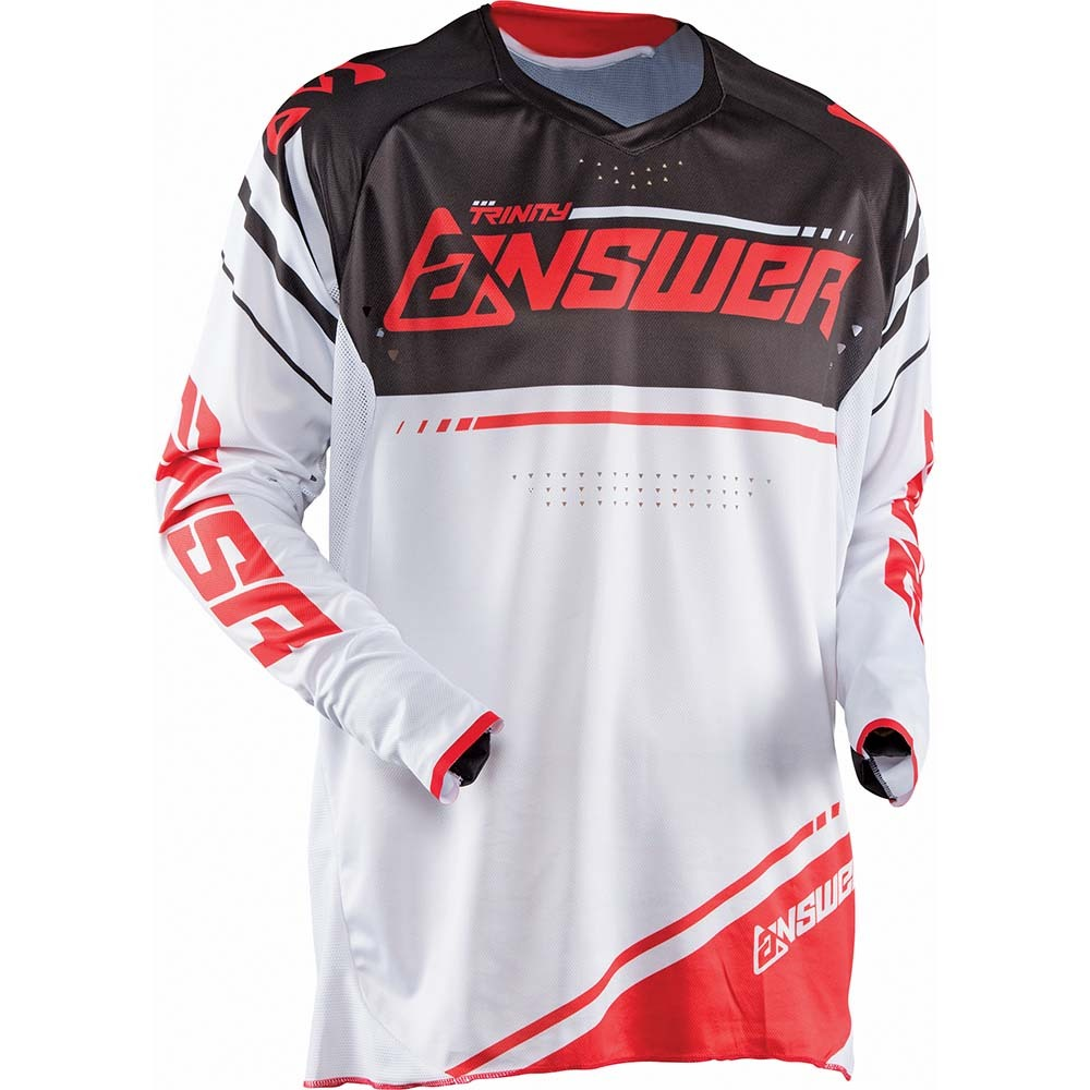 ANSWER 2018 Trinity Motocross Jersey Weiss/Rot