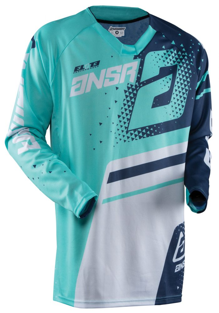 ANSWER 2018 Elite Motocross Jersey Navy/Teal