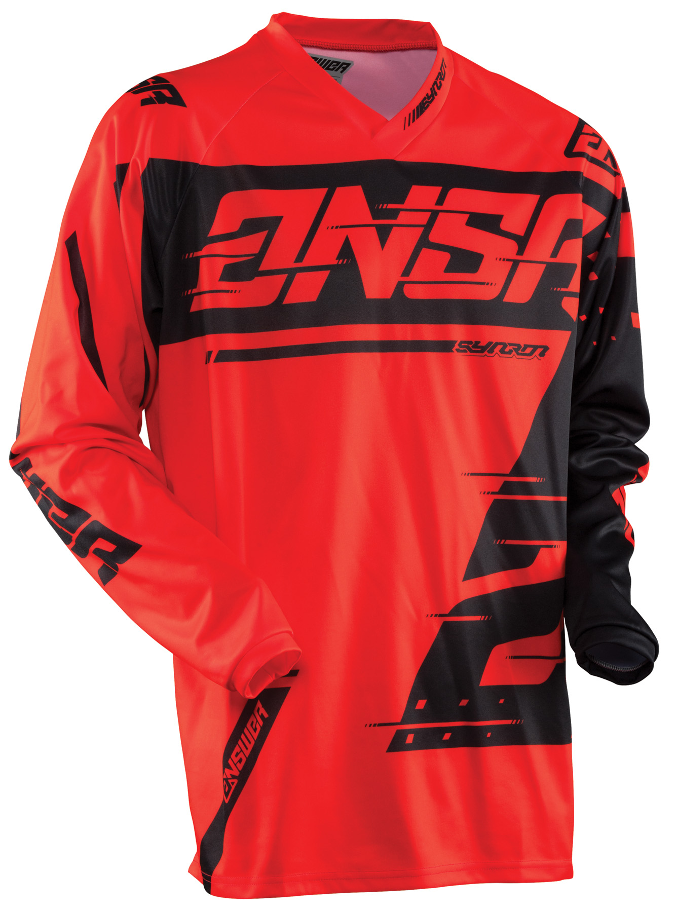 ANSWER 2018 Syncron Motocross Jersey Rot/Schwarz